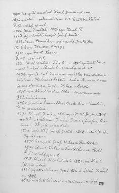 Kronika obce II - 174.list Gruntovní kniha