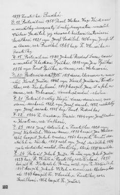 Kronika obce II - 177.list Gruntovní kniha