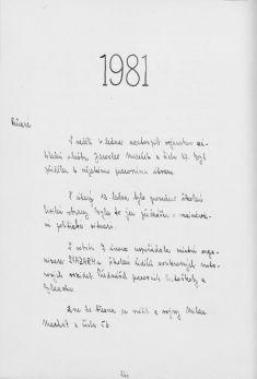 Kronika obce III - 247.list Rok 1981