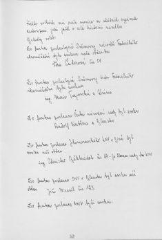 Kronika obce III - 354.list Rok 1986