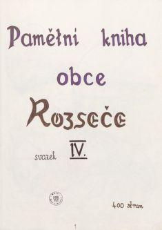 Kronika obce IV - 2.list Obal kroniky aúvod