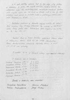 Kronika obce IV - 143.list Rok 2001